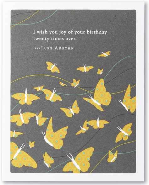 I wish you joy - Birthday Card