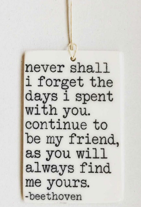 Never shall I forget... - Mini Porcelain Wall Tag