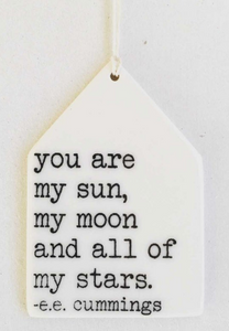 you are my sun... - Mini Porcelain Wall Tag
