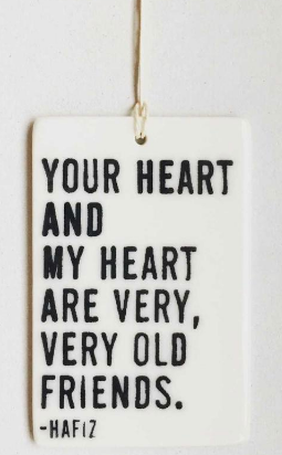 Your heart and my heart... - Mini Porcelain Wall Tag