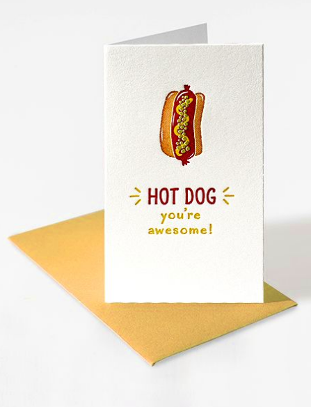 Mini Notecard - Hot Dog