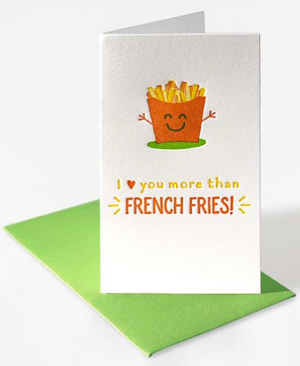 Mini Notecard - French Fries