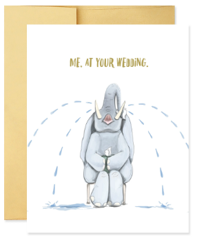 Weeping Wedding Elephant - Wedding Card
