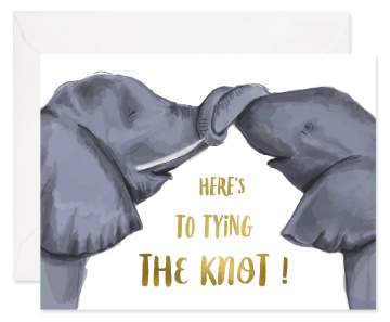 Knotty Elephants - Wedding Card
