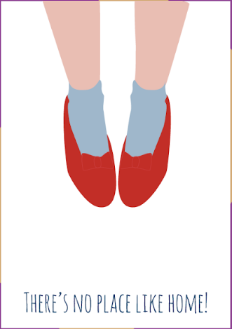 Ruby Slippers - New Home Card