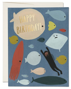 Scuba - Birthday Card