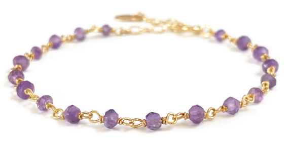 Amethyst Gemstone Bracelet - S for Sparkle