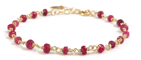 Ruby Gemstone Bracelet - S for Sparkle