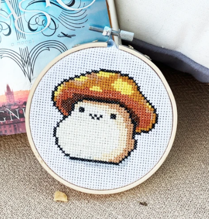 Maplestory Orange Mushroom Cross Stitch Kit