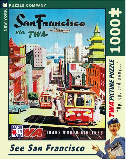 San Francisco via TWA Puzzle 1000 pcs
