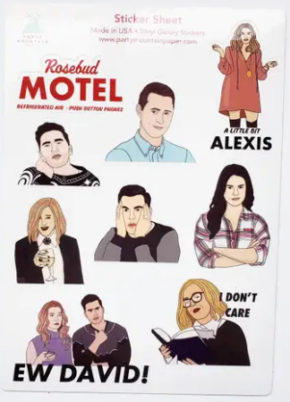 Schitt's Creek Sticker Sheet