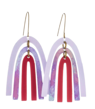 Rainbow Earrings Purple Lg