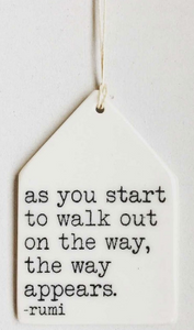 as you start to walk out...