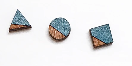 Triplet Wood Stud Set - Blue