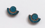 Ilsa Wooden Studs - Blue
