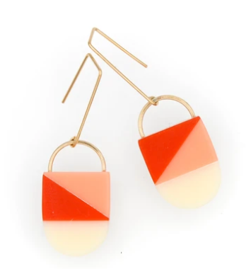 Siri Earrings - Poppy/Cream