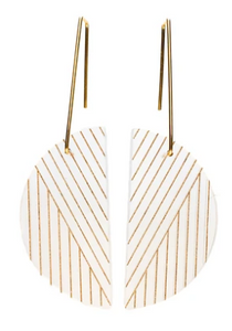 Alta Earrings - Frost/Gold
