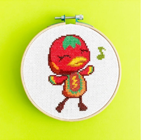 Ketchup Animal Crossing Cross Stitch Kit