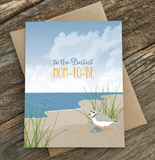 Mom-to-Be Sandpiper - Baby Shower Card