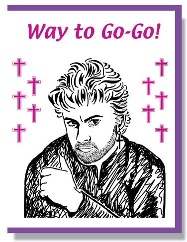 George Michael Card - Congrats Card