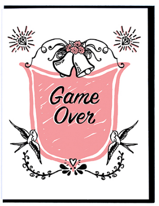 Game Over - Wedding Card