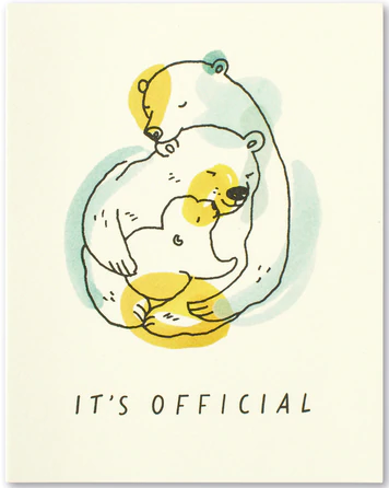 It's official - New Baby Card