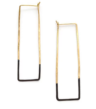 Mired Metal Rectangle Hoops