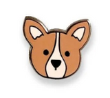 Corgi Orange Enamel Pin
