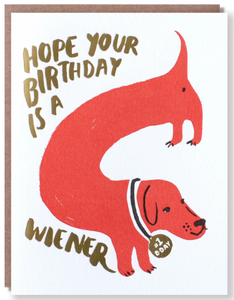 Wiener Birthday - Birthday Card