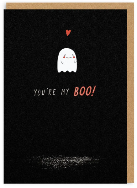 My Boo Enamel Pin Greeting Card - Halloween / Love Card