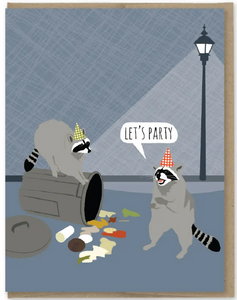 Raccoon Party - Birthday Card