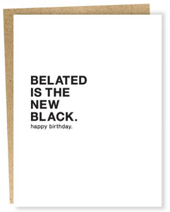 The New Black - Belated Birthday Card