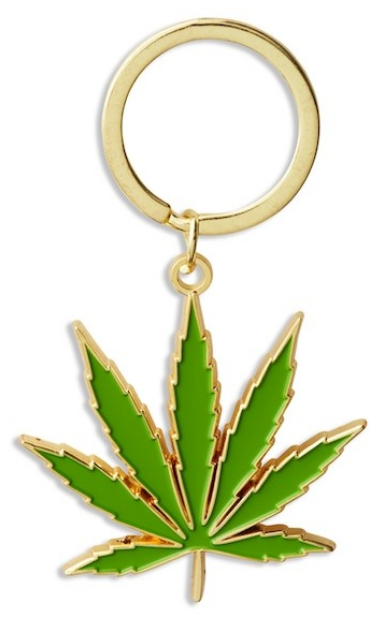 Pot Leaf Keychain