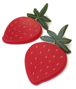 Strawberry Earrings - 2 sizes