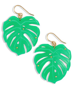 Monstera Earrings Medium