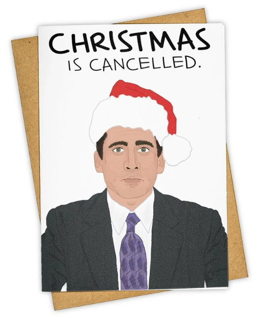 Christmas is Cancelled Holiday Card - The Office