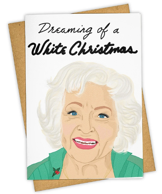 White Christmas Holiday Card