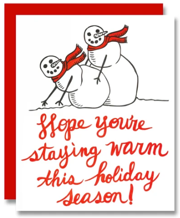 Staying Warm Holiday Card
