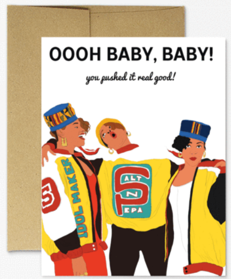 Pushi it - New Baby Card
