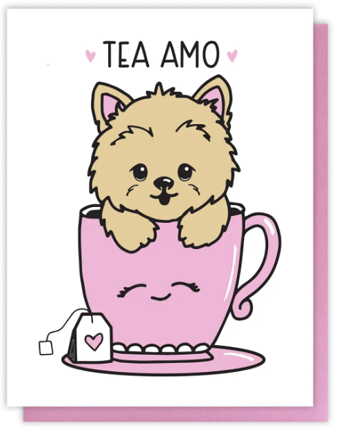 Tea Cup Dog - Love Card