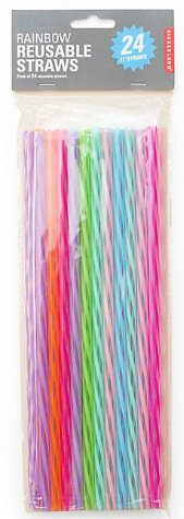 Rainbow Reusable Straws 11