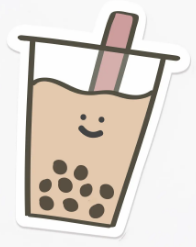 Boba Milk Tea Sticker