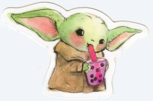 Boba Baby Yoda Sticker