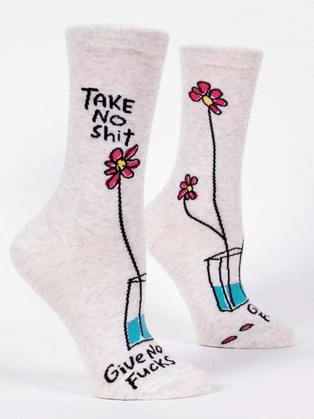 Take no shit - Women's Crew Socks