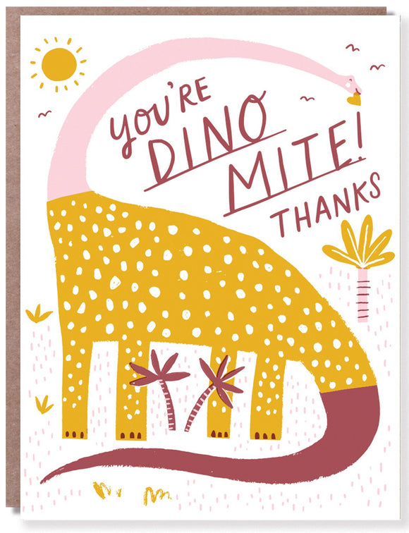 Dino-mite! - Thank you card