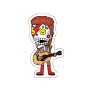 Bowie Sugar Skull Sticker