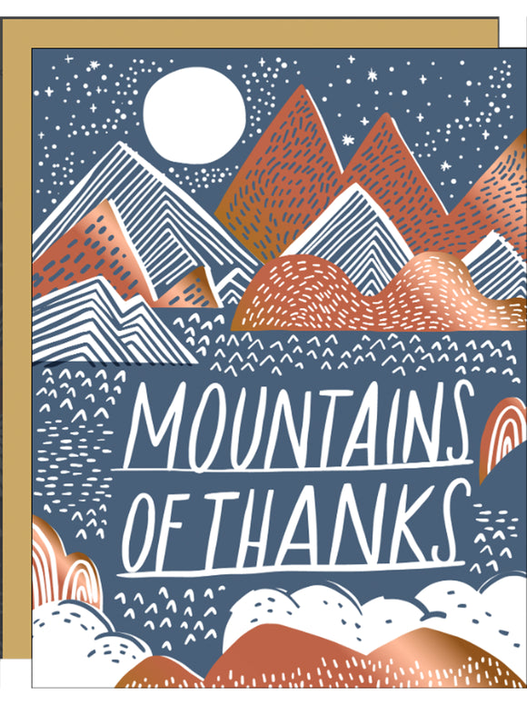 Mountains of Thanks - Thank You Card