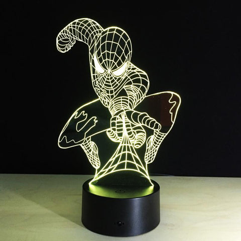 LAMPE 3D LED SPIDERMAN