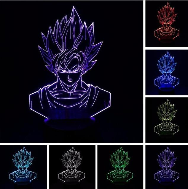 Lampe LED 3D Dragon Ball Z Goku