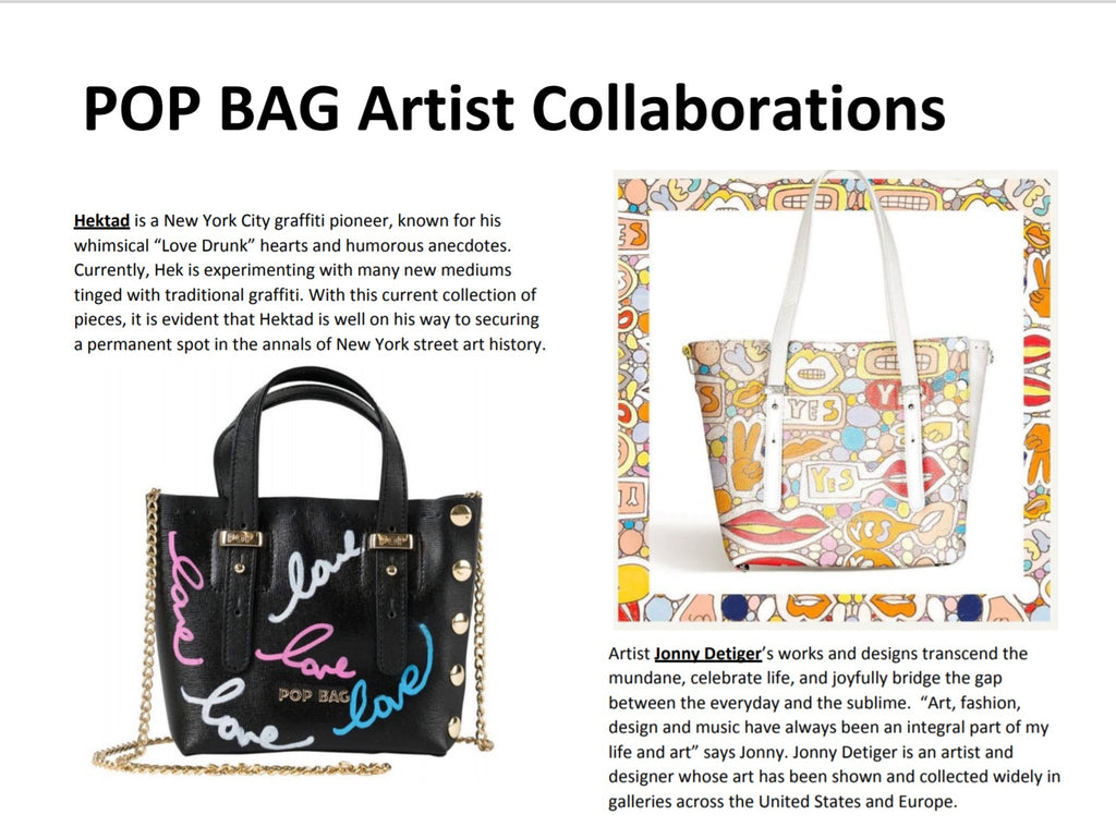 POP BAG Artists Collaborations